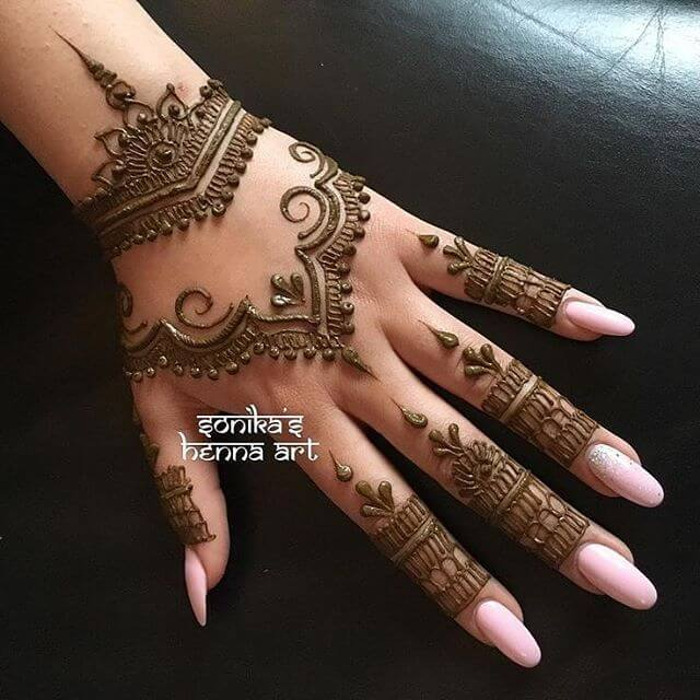 beautiful mehndi arabic mehndi