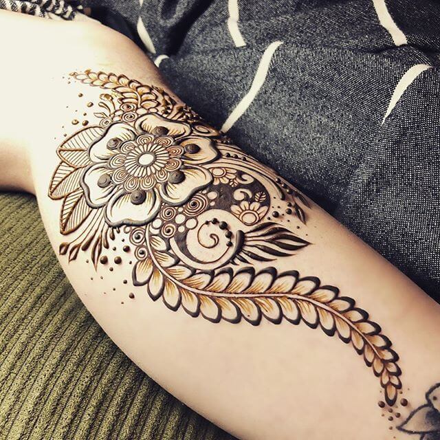 mehndi design on your arm