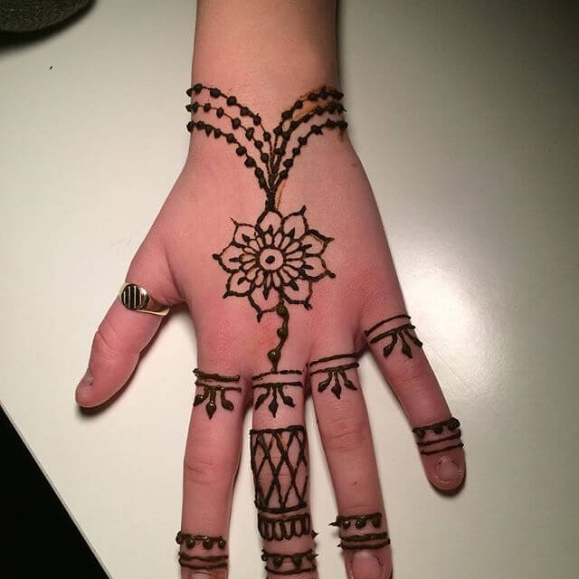2018 kids mehndi design