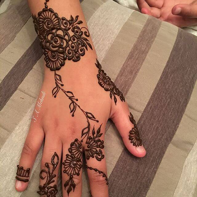 2018 mehndi design for kids