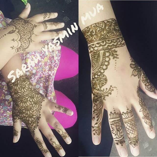 half handed simple mehndi design