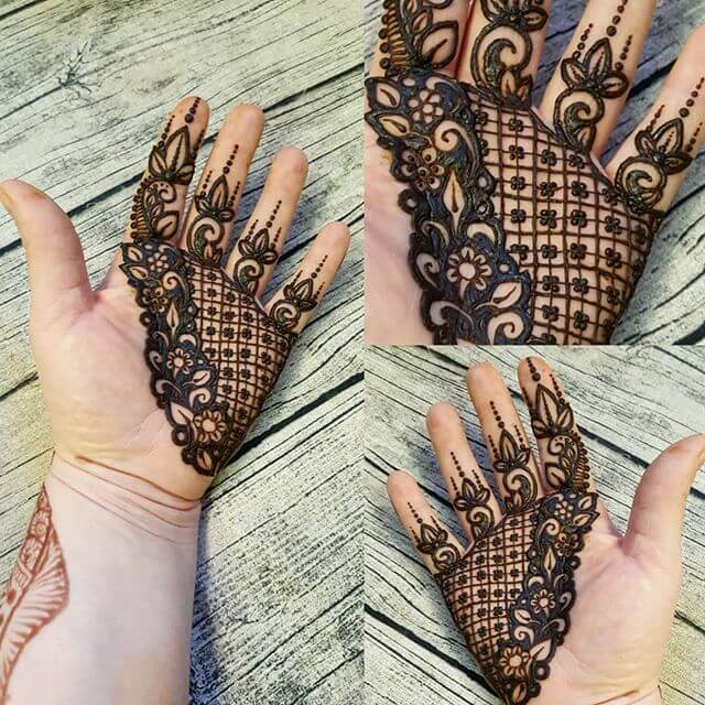 beautiful palm mehndi Design