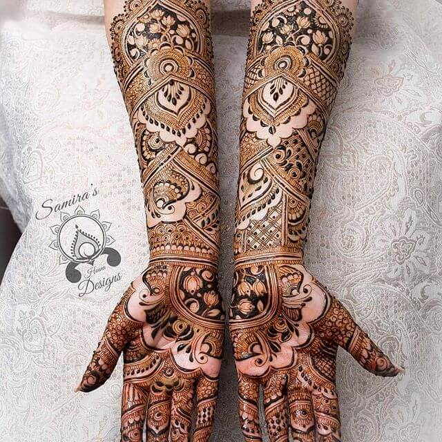 full hand and arm mehndi