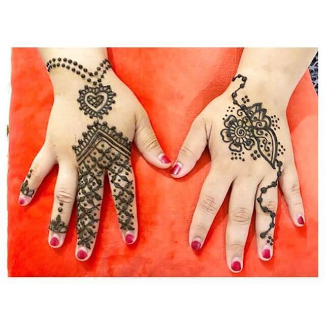 sweet little hands of mehndi