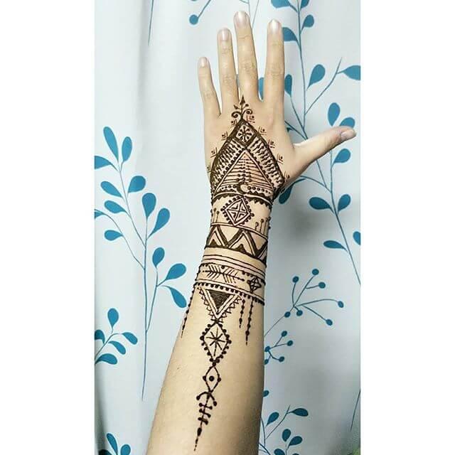 beautiful hand and arm mehndi art