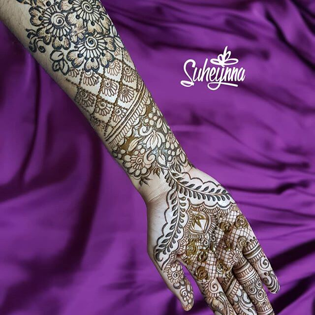 hand and full arm mehndi designs