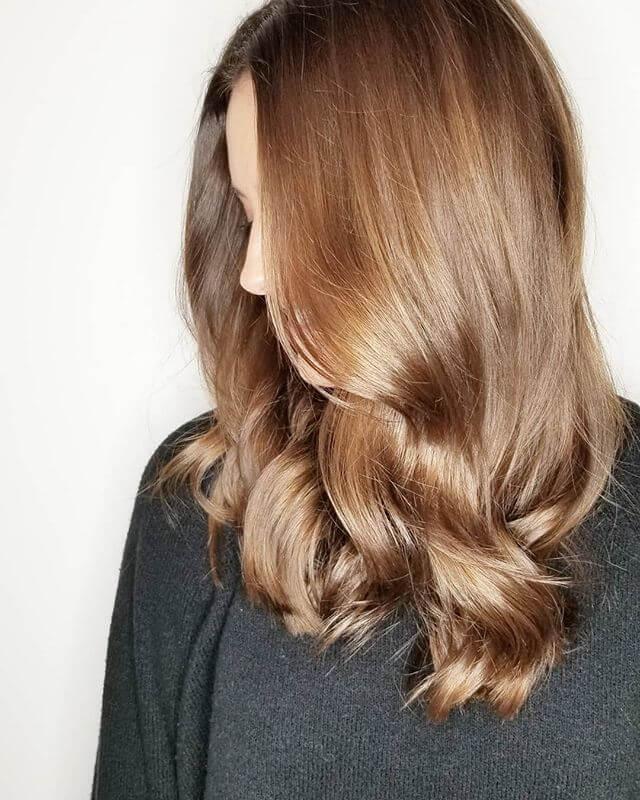 sliky shiny loose hair