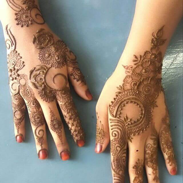 beautiful henna art on your hand