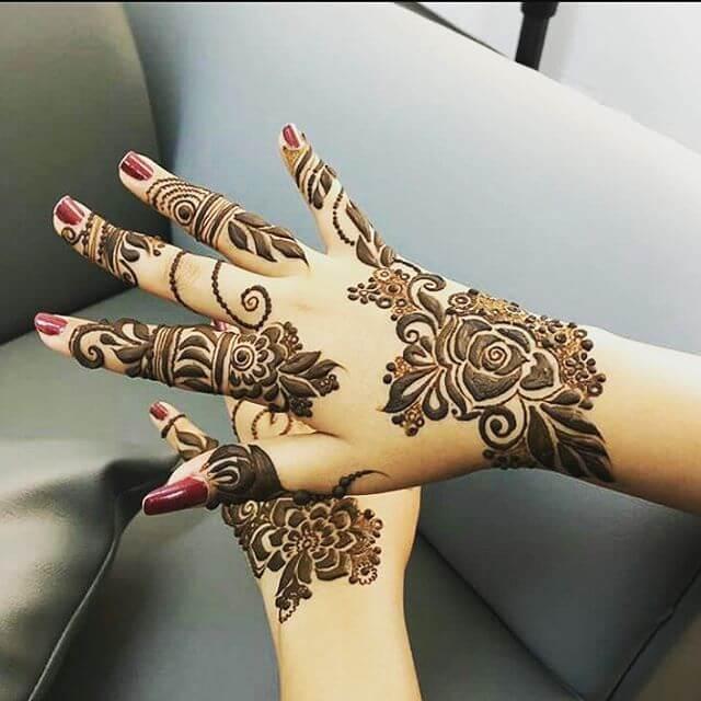 Back Hands Arabic Mehndi Designs