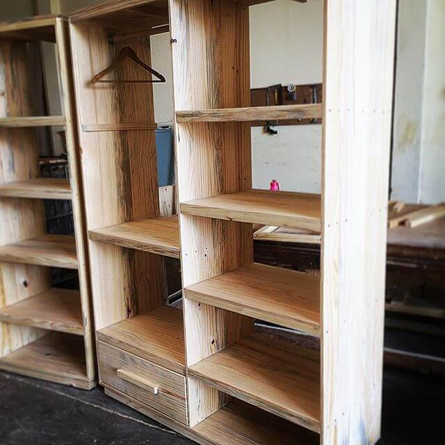DIY giant pallet cabinets