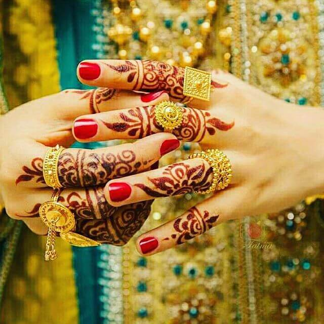 Back Hands Fingers Arabic Mehndi Designs 2018