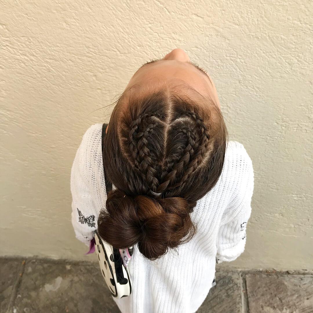 french braid with bun