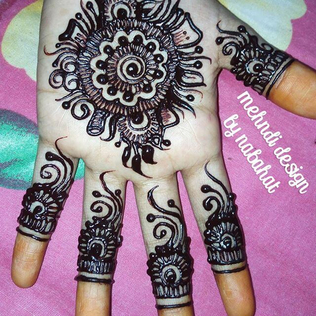 full hand and fingers mehndi design