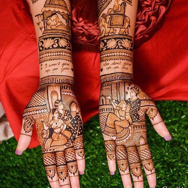 simple mehndi design for bridals