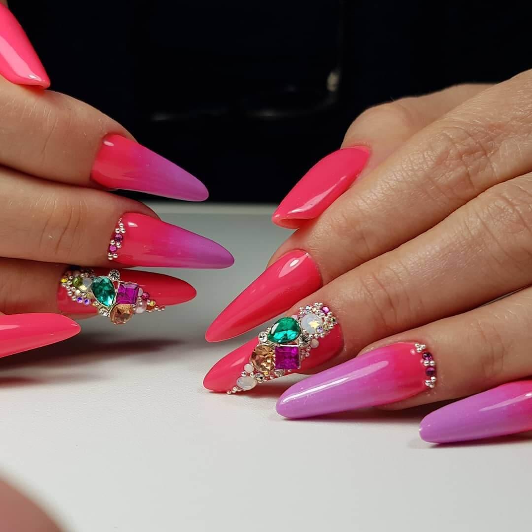 pinkish nail art
