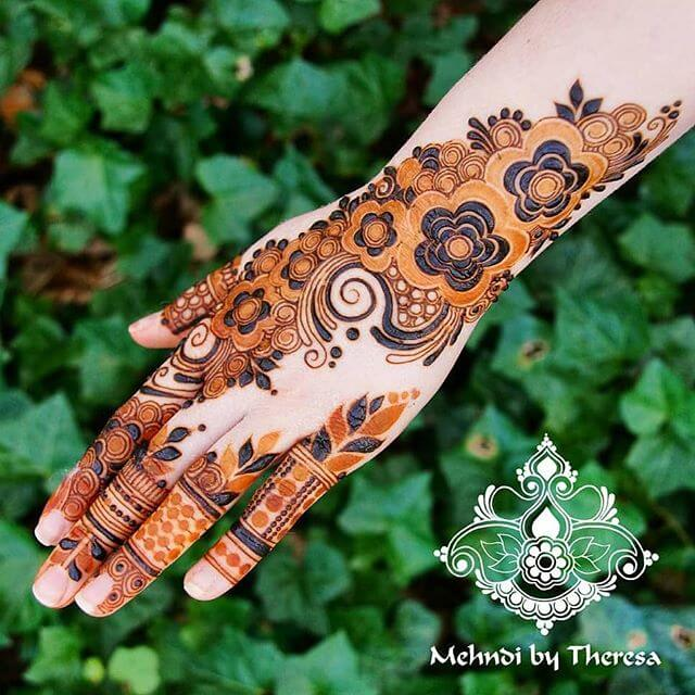 Latest Simple Mehndi Designs For Hands 2018 Sensod