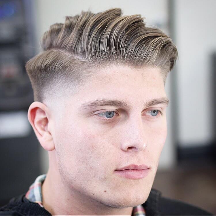 handsome male hair cut