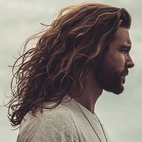long messy hair