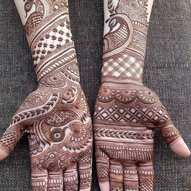 Heavy and beautiful Front hands mehndi designs 2018