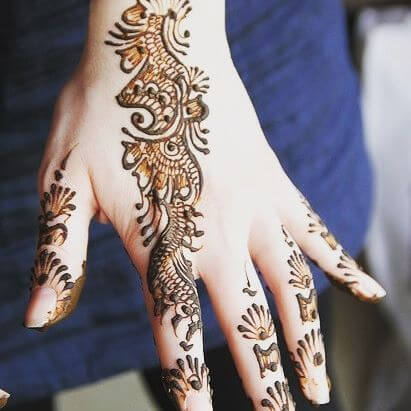 Creative back Hands Henna Designs