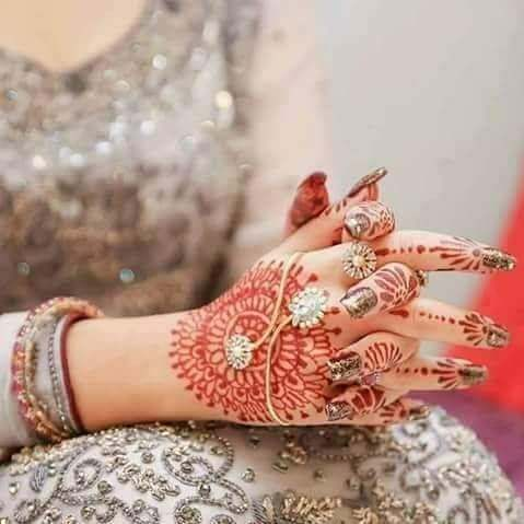 perfectly crafted henna design