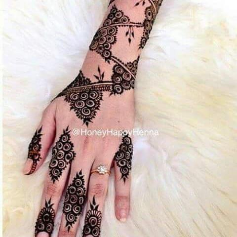 elegant henna design 2018