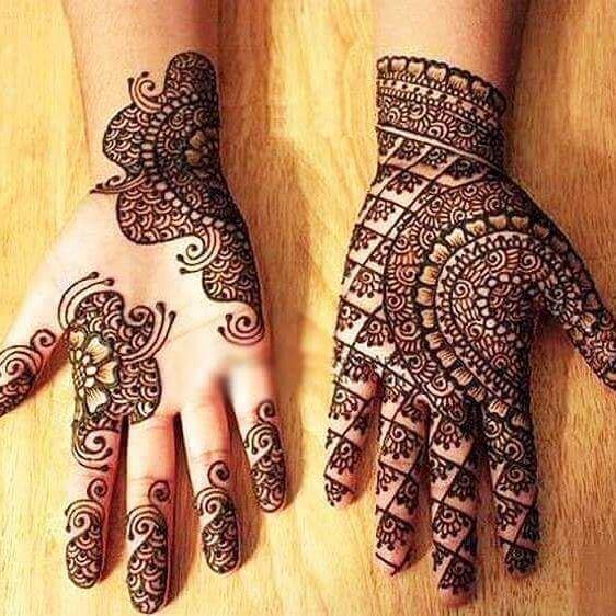 beautiful and elegant mehandi design