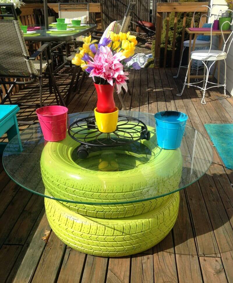 Waste Tyre Table