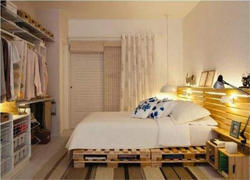 9 Easy DIY Wooden Pallets Bed Frame Ideas For Home