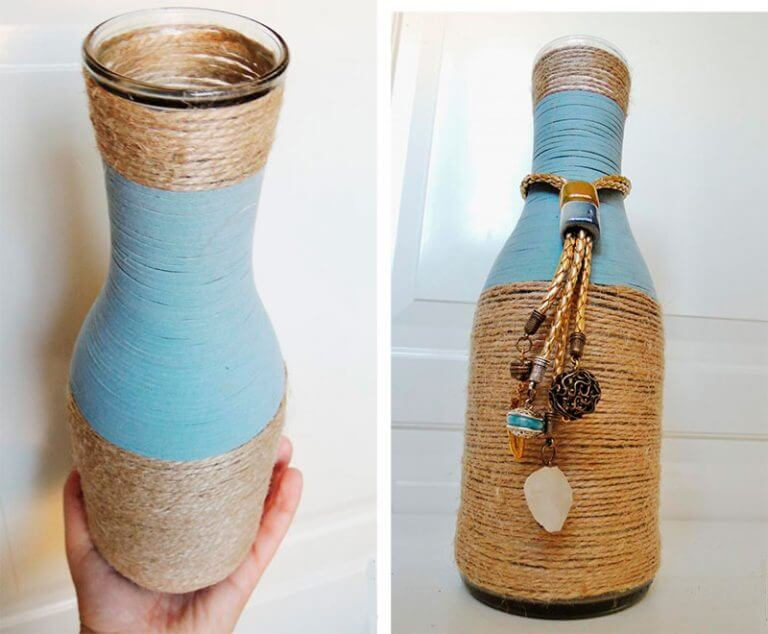Rolled Bottle Vases