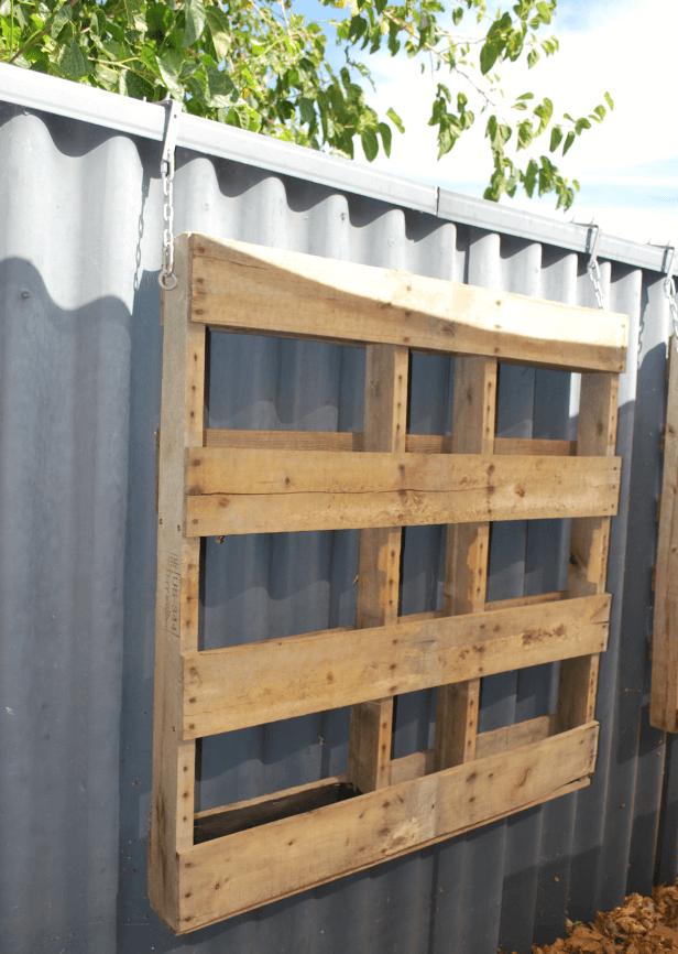 Pallet Hanging Container Garden