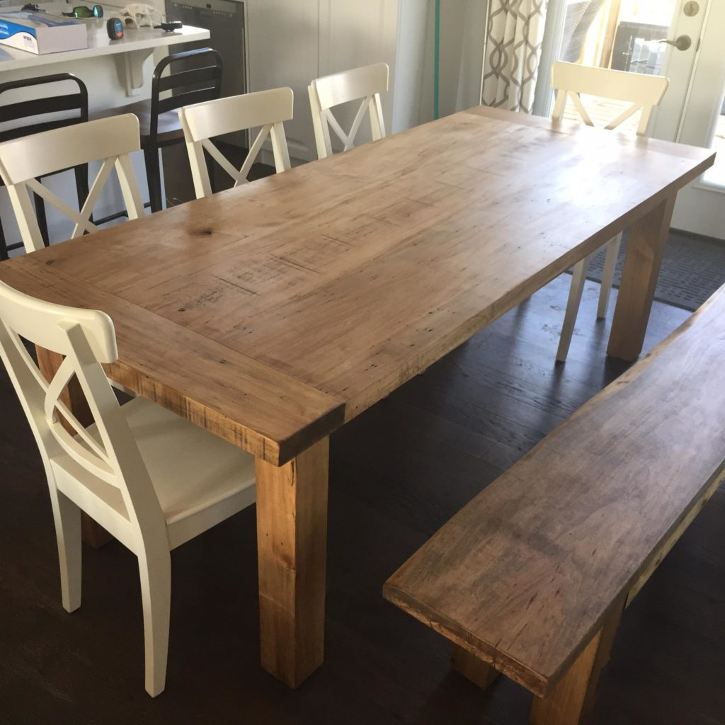 Decently and perfectly made wooden pallet dining table: