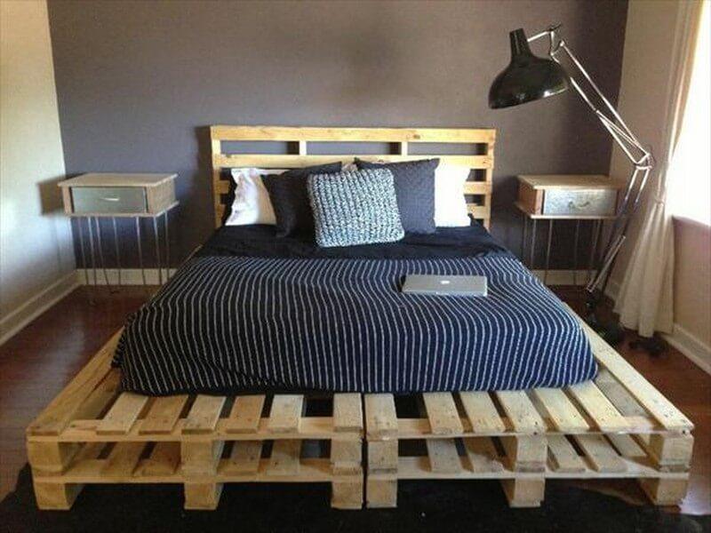 10 Easy DIY Wooden Pallets Bed Frame Ideas For Home - Sensod ...