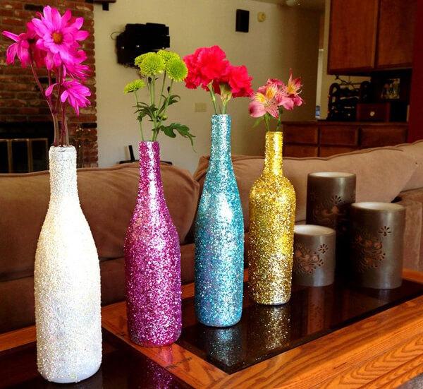 Wine Bottles Decorative Idea