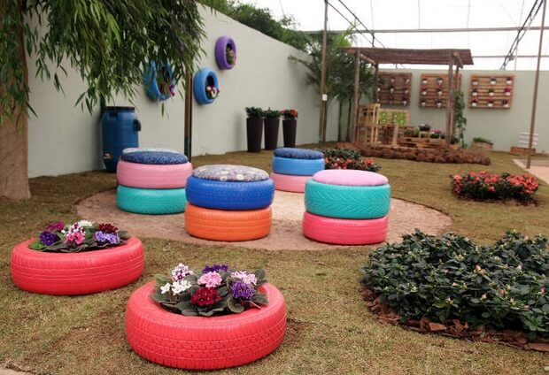 Waste Tyre Ideas for your Garden
