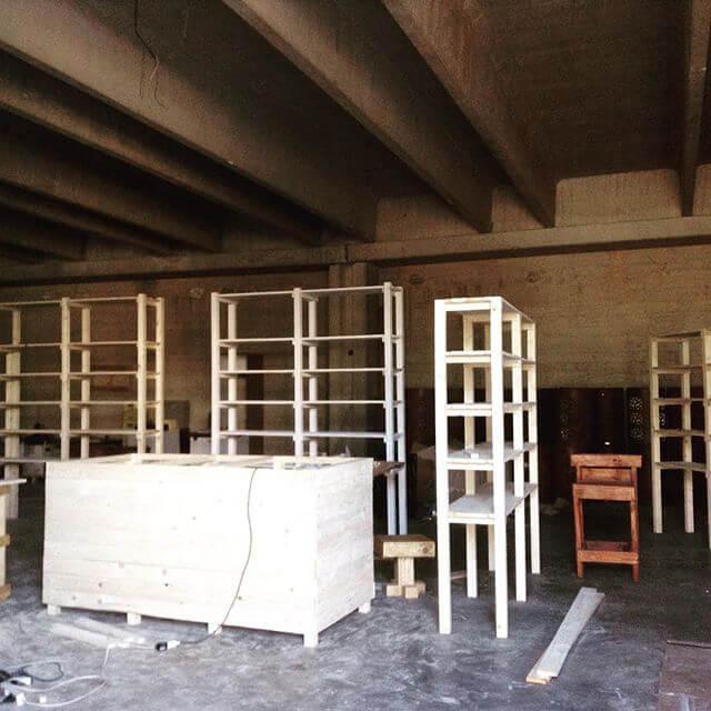 Giant-sized Pallet storage racks