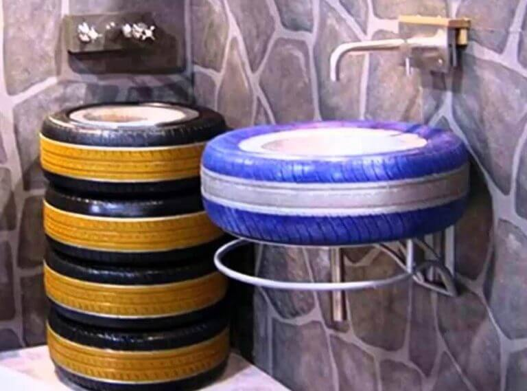 Tyre Washbasin Ideas.