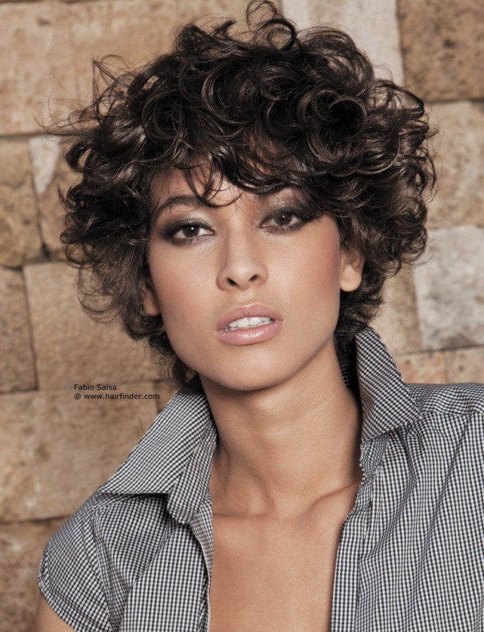 Cool Layered Coils Style for Short Curly Haircut Short Curly Hairstyles & Haircuts for Women
