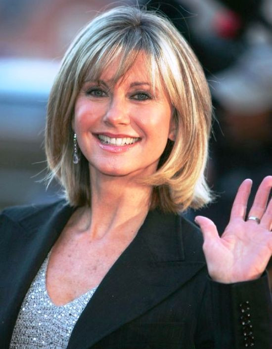 Thick Bob and Bangs Hairstyles for Women Over 60s