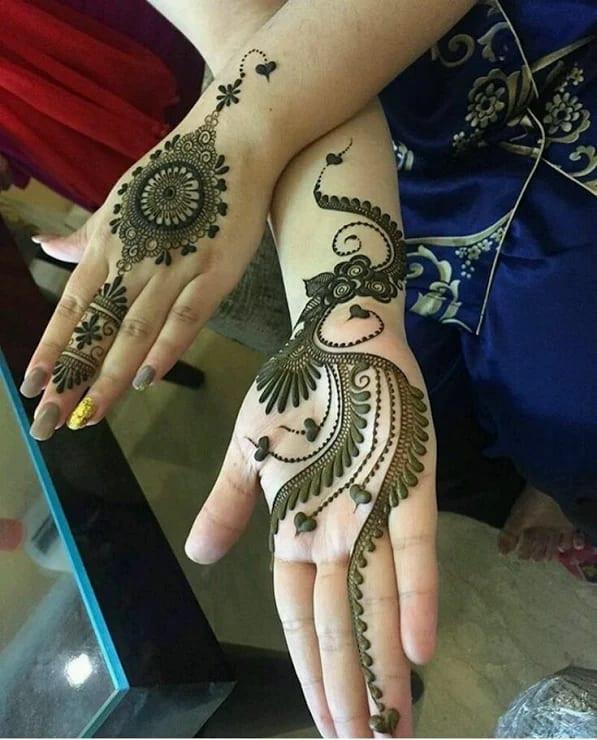 Wonderful Mehndi Art on Back Hand on new year