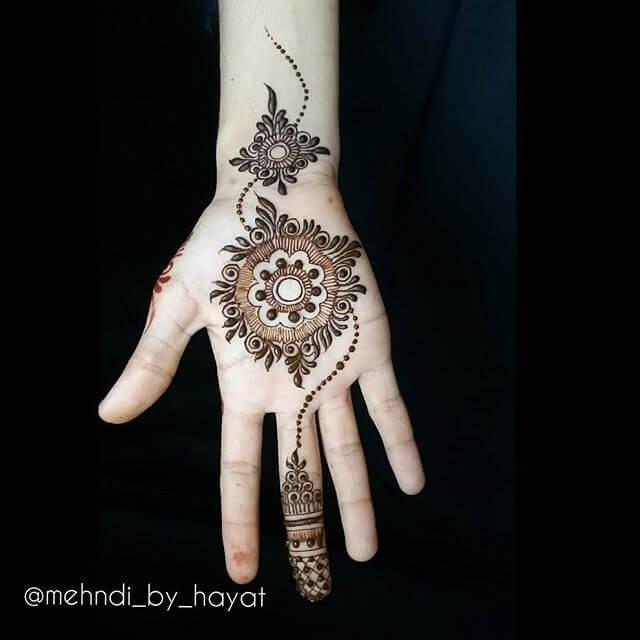 Quite simple finger mehndi designs 2018