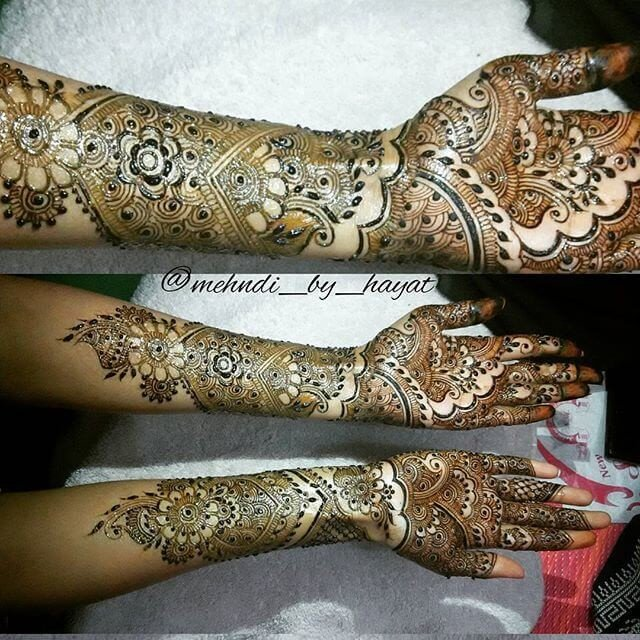Full Arm with hands henna designs