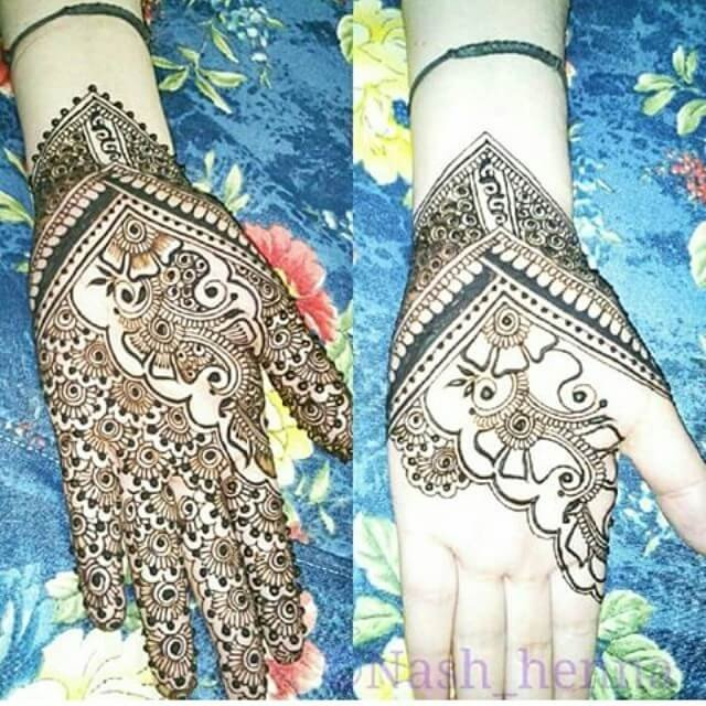 Easy Simple Mehndi designs For Front Hand
