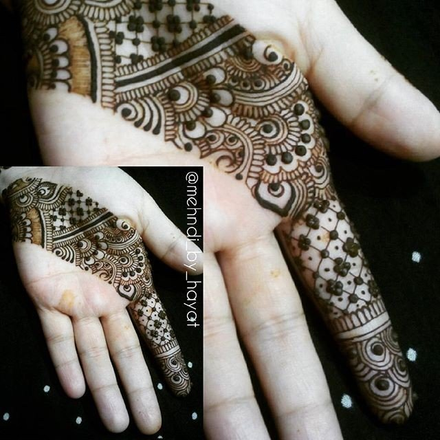 Latest Front Hand Beautiful Tiki Mehndi Designs 2019