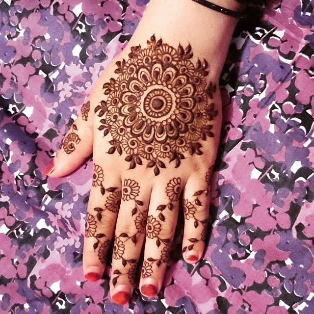 Jewelry mehndi design for back hands