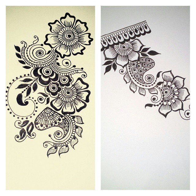 Jewelry mehndi design for paper