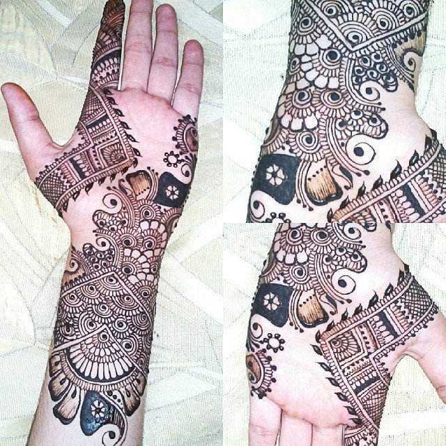 Henna Designs For Front Hand and Arms