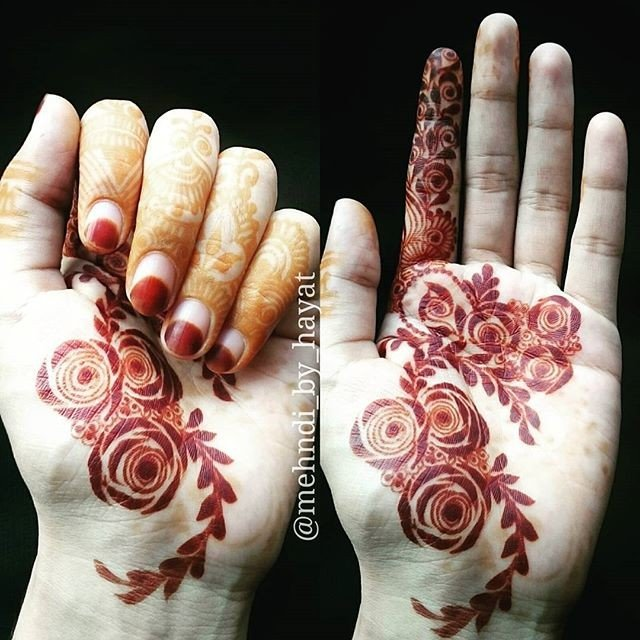 Easy Front Hands Mehndi Designs