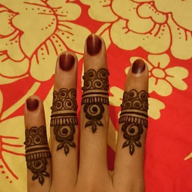 Creativity in finger mehndi designs ideas