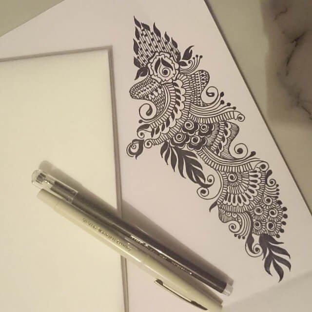 bridal mehndi design ideas for paper